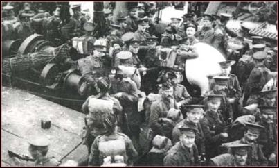 ontscheping British 7th Div op 6-7 Okt te Zeebrugge